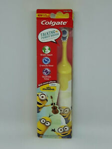 Colgate Minions TALKING Extra Soft Battery Toothbrush YELLOW