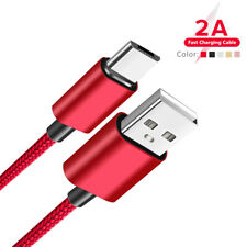 Nylon Braided Android Micro USB Cable Type C Charger Cord For Samsung Xiaomi