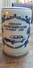 Vtg Delft Blue White Cressida Mug Tankard Stein Toyota Dealer meeting Dec. 1980