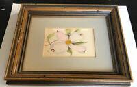 Artist Mary Ellen Golden - Wood Framed & Matted Art Print - Flower Floral