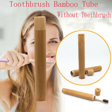 Natural Bamboo Case Eco Friendly Toothbrush Tube For Toothbrush Case cute