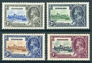 British 1935 KGV Silver Jubilee Nyasaland Sc #47-50 Mint Non Hinged Y109