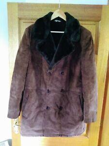Men's Vintage Sheepskin Coat - Large