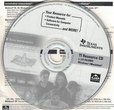 Texas Instruments TI Resource CD v 2.8 Win Mac Product Manuals Computer Software