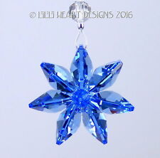 m/w Swarovski Crystal Sapphire Flower Car Charm SunCatcher Lilli Heart Designs