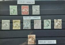 More details for australia 1913-28 - selection of 10 used roo stamps 1/2d - 2s