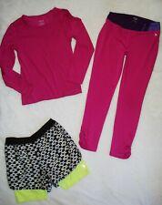 Girls Lot Size L 10 12 Dance Activewear Top Shirt Legging Pant Athletic Shorts