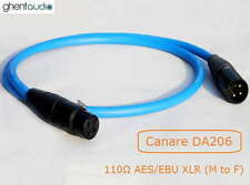 E01(0.5m 1.5ft)---Canare DA206 110Ω Coax AES/EBU XLR (Male---Female) Audio Cable