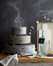 VINTAGE STYLE RD METAL CAKE STANDS PLATES~S/3~ DISPLAY PLATFORM WEDDING DECOR