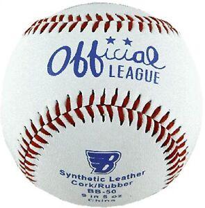 Baseball aus Kunstleder mit Kork. In 5Oz. Baseball Ball, Wurfball, Softball.
