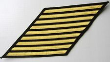 USN HASHMARKS MALE-9 STRIPES GOLD ON BLACK 36 YEARS GOOD CONDUCT CPO's E7-E9