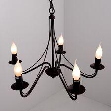Lustre Style Campagne Plafonnier à 5 branches Lampe pendante Lustre Métal 11351