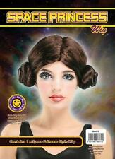 Space Princess Leia style Ladies Star Wars themed Wig  Fancy Dress Accessory