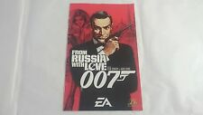 MANUAL INSTRUCCIONES 007 FROM RUSSIA WITH LOVE PLAYSTATION 2 PS2 PAL UK INGLES