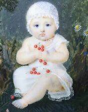 Portrait miniature d'enfant vers 1780-1795