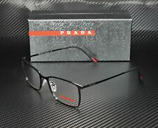 PRADA LINEA ROSSA PS 51LV 1AB1O1 Black Demo Lens 56 mm Men's Eyeglasses