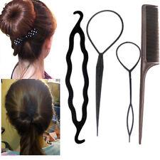 4Pcs Women Hair Twist Styling Clip Stick Bun Maker Braid Kit Hair Accessories