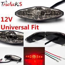 UNIVERSAL MOTORCYCLE LED REAR BRAKE STOP TAIL LIGHT LICENSE PLATE LAMP 12V SMOKE