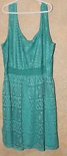 Love Reign Teen Ladies Dress Size XL Worn Once Teal Stretch lace