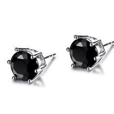 Lovely Dashing  Black Sapphire Crystal Women 18K Silver Gold Filled Stud Earring