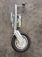 """ON SALE Heavy Duty Swing up Trailer Jockey Wheel 10"""" Wheel BOAT JetSki"""