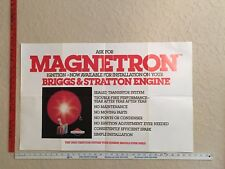 Vintage Advert./ID Posters - Briggs and Stratton Magnetron Ignition Poster