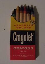 Vintage 1960's 6ct Crayolet Crayons (Crayola) Binney & Smith Inc., New York