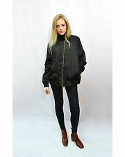 Lady Quilted Satin Bomber Jacket with sleeves Pocket black, Pink, rose gold