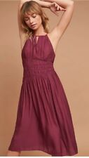 NWT Moulinette Soeurs Anthropologie Burgundy Wine Dress Size 8 With Marks
