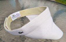 Authentic Lacoste Izod Alligator NWOT Adjustable Velcro Straw Visor-Sold Out