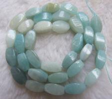 "6x12mm Natural Amazonite Twist Loose Beads 15.5"""