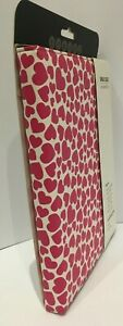 NEW IPAD CASE STYLISH PROTECTION IN PINK LOVE HEARTS FOR iPAD 2 AND NEW iPAD