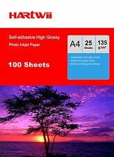 A4 Sticker Adhesive Photo Paper 135G High Glossy Inkjet Printer -100 Sheets