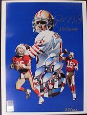 JOE MONTANA 'HOF 2000' San Francisco 49ers Autograph 8x10 Signed Litho 29/10016G