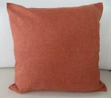 Rust Orange Solid Colour Linen Look Cushion Cover 45cm