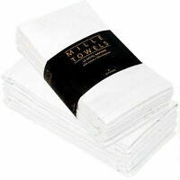 50% Cotton 12Pc Napkins Wedding Table Cloth Table Ware Dinner Party Soft Fabric