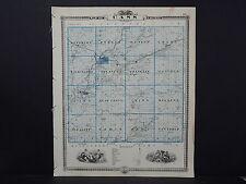Iowa, Cass County Map, 1875 Reversible, See Description! M3#78