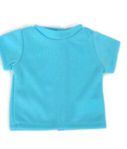 Teal T-Shirt fits American Girl Dolls 18 inch Doll Clothes Short Sleeve