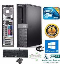 FAST Dell COMPUTER DESKTOP 250GB HD Intel C2D 3.00GHZ 4GB RAM Windows 10 hp 64