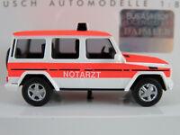 """Busch 51411 Mercedes-Benz G-Klasse (1990) """"NOTARZT"""" in weiß/rot 1:87/H0 NEU/OVP"""