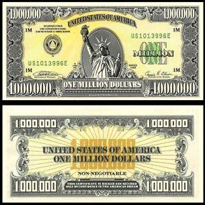THE ORIGINAL 1988 $1 MILLION BILL by ABNCo w COA! EBAY $100/HERE $50! READ STORY