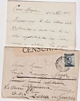 ITALY 1916 CENSORED COVER FROM OFFICE 36 DIVISION TO FIRENZE