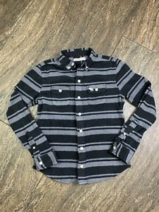 Abercrombie kids Boys Black/ Grey Fleece Long Sleeve Shirt Sz 11/12