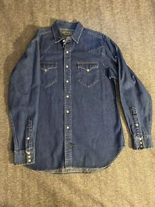 Vintage Polo Country Authentic Dry Goods Ralph Lauren Denim Western Shirt Large
