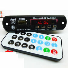 DC 12v Bluetooth Receiver mp3 Decoder audio Board FM Radio SD AUX + Remote wire