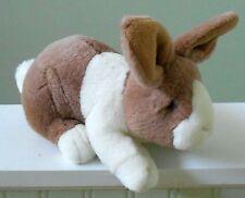 "RUSS BERRIE Bunny Rabbit Plush Stuffed Toy COOPER Brown White Soft 10"""