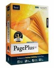 Serif PagePlus X6 Desktop Publishing DTP PDF Editor eBook Design PC Software