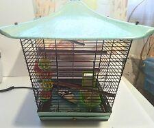 Reliance Finest quality Turquoise Pagoda Metal Birdcage Mid Century Parakeet