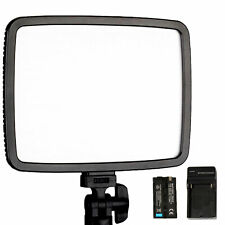 LED Light Flat Panel Dimmable LCD Display Photography Photo Video DSLR Camera