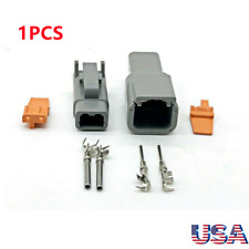 1x Electrical Car Auto 2 Pin Dtm Waterproof Wire Connectors Plug 20 24 Awg Us